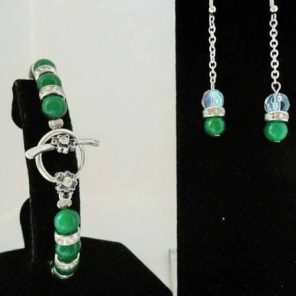 St. Patrick's Day Jade Jewelry Set